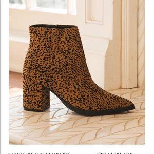 🐆🐆 😍 Camel Black Leopard Ankle bootie